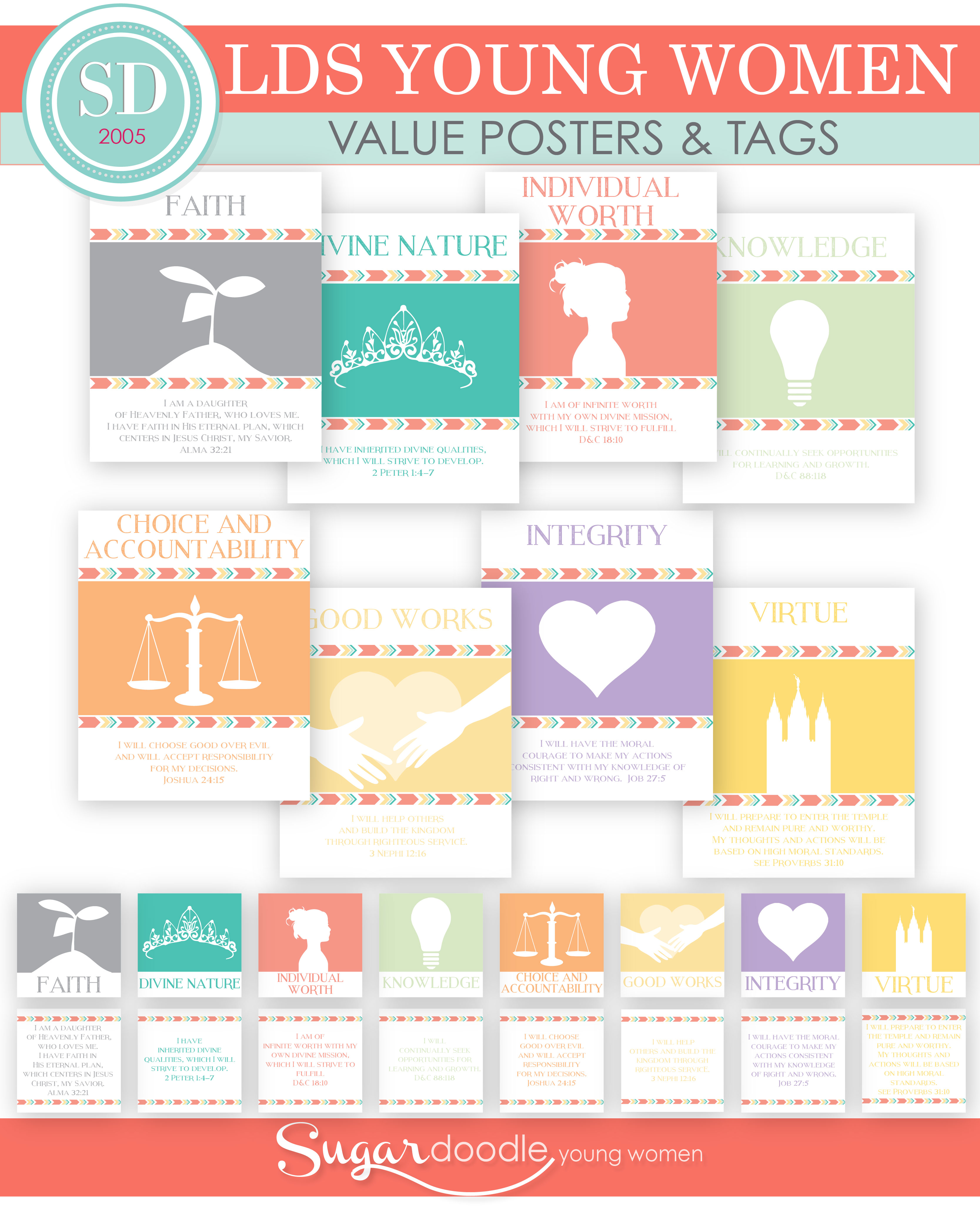 photograph about Printable Sets called More youthful Females Values Posters Printable Sets Sugardoodle.Web