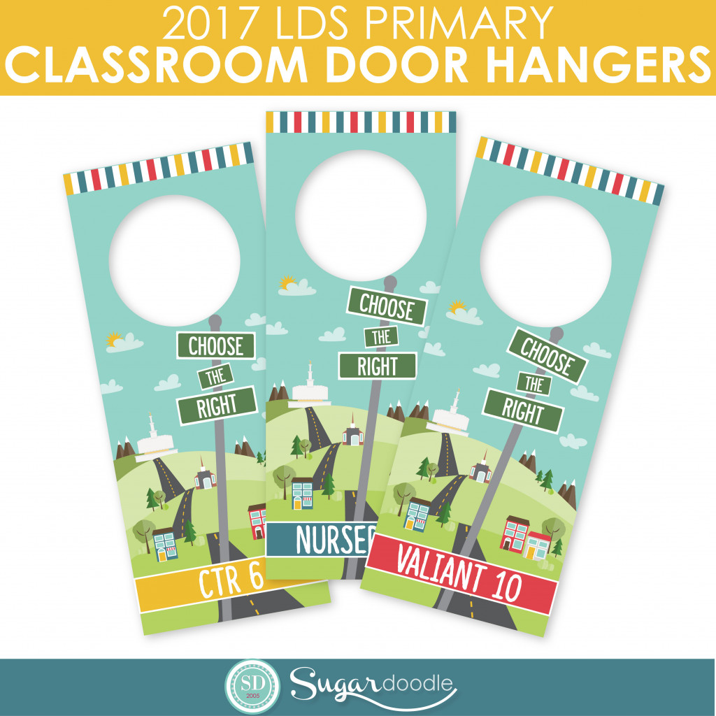LDS Primary 2017 Classroom Door Signs