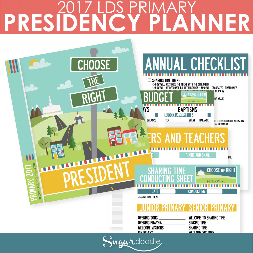 2017 LDS Primary Presidency Planner