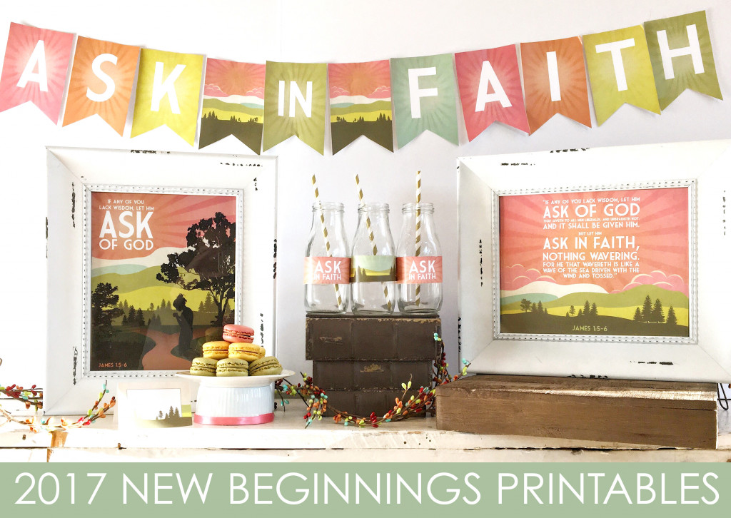 2017 LDS YW New Beginnings Printables