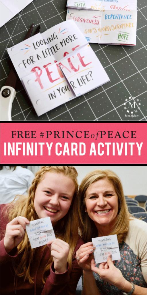 MeckMom #PRINCEofPEACE Infinity Card